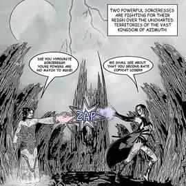 Solomon Barroa - Sorceress Comic Illustration 1