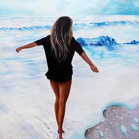 Girl at the Beach by Saeed Ahmad