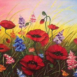 Soul of May. Lovely poppies. by Elena Dremova