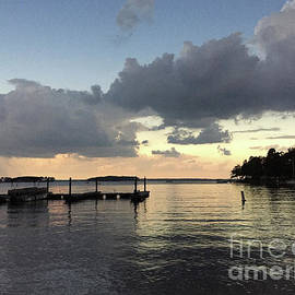 South Carolina Lake Murray Surreal Clouds Pier Beach Scene - Kathy Fornal