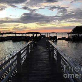 South Carolina Lake Murray Surreal Coastal Beach Pier Bridge Walkway - Surreal Sunset Lake Murray  - Kathy Fornal