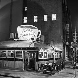 Toby McGuire - South Street Diner Shahow of the Cup Boston MA Black and White