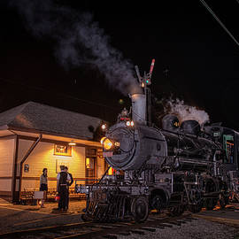 Jim Pearson - Southern 401 sits beside the Nelson Crossing Station