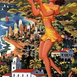 Studio Grafiikka - Southern California - United Air Lines - Retro travel Poster - Vintage Poster