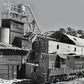 Southern Pacific Gp9e Locomotive No. 3358 At Sand Plant 1972 by California Views Archives Mr Pat Hathaway Archives