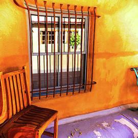 Susan Vineyard - Southwestern porch distortion with puple floor