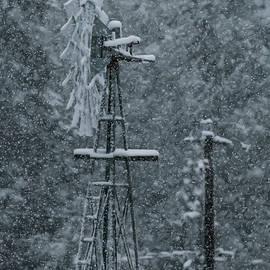 Southworth Windmill Snow Bound by E Faithe Lester
