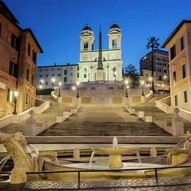 Spanish Steps Rome Italy by Joan Carroll