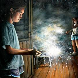 Eileen Patten Oliver - Sparklers On The Porch