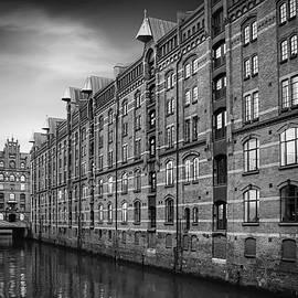 Carol Japp - Speicherstadt Hamburg Germany in Black and White