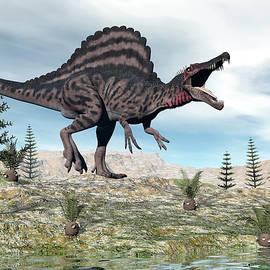 Elenarts - Elena Duvernay Digital Art - Spinosaurus dinosaur - 3D render