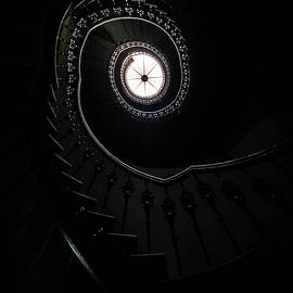 Jaroslaw Blaminsky - Spiral staircase in an old mansion