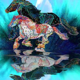Michele Avanti - Spirit Horse II Leopard Gypsy Vanner Blue Ice