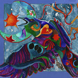 Spirit Raven Totem by Sherry Shipley