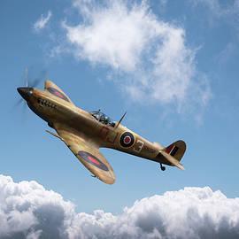 Spitfire in desert colours