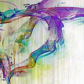 Splattered Paint Heart by Linda Sannuti