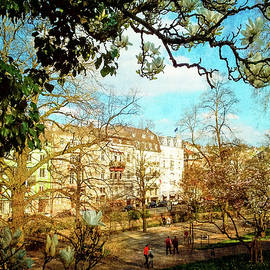 Spring. Baden-Baden through magnolia by Gerlya Sunshine