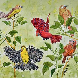 Linda Brody - Spring Birds Watercolor