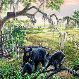 Daniel Butler - Spring Bounty - Florida Black Bear/Cubs