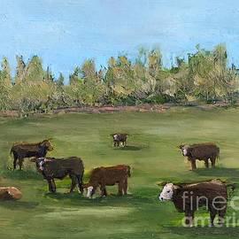 Spring Cows by Leslie Dobbins