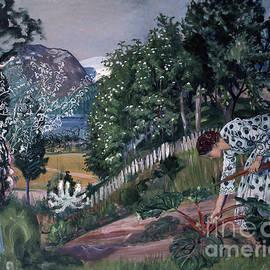 Nikolai Astrup - Spring evening in Joelster