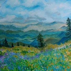 Julie Brugh Riffey - Spring In Bloom - Mountain Landscape