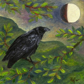 Spring Moon Raven by FT McKinstry