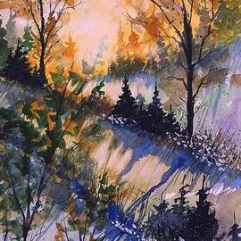 David K Myers - Spring  Sun, Loose Watercolor