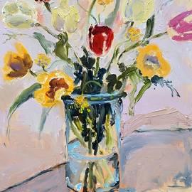 Donna Tuten - Spring Tulip Bouquet Still Life