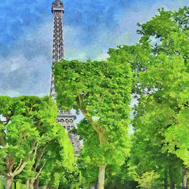 Springtime at the Eiffel Tower by Digital Photographic Arts