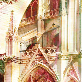 Springtime in Paris at Notre Dame Cathedral by Carla Parris