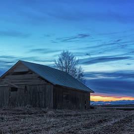 Jukka Heinovirta - Springtime Sunset And A Barn House