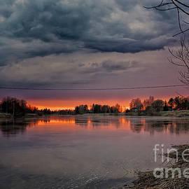 Jukka Heinovirta - Springtime Sunset By The River