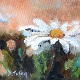Donna Tuten - Square Format Daisy Painting