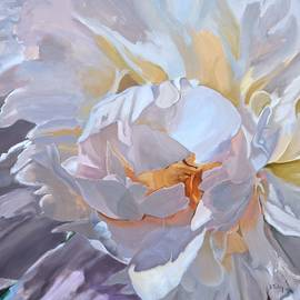 Donna Tuten - Square Format Peony Painting