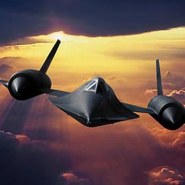 SR-71 Blackbird Ahead of the Sun by Erik Simonsen