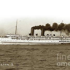 S.S. Harvard passenger ship circa 1927 by California Views Archives Mr Pat Hathaway Archives