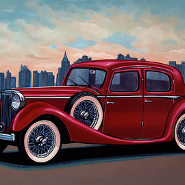 Paul Meijering - SS Jaguar Saloon 1936 Painting
