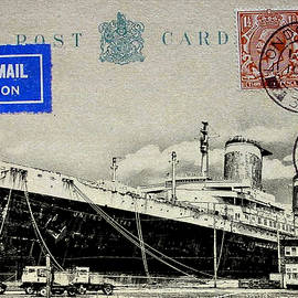 SS United States - Post Card by Bill Cannon