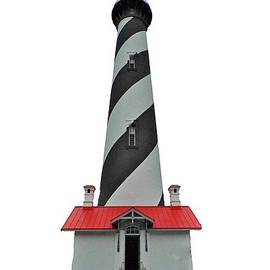 St Augustine Lighthouse Transparent For T Shirts by D Hackett