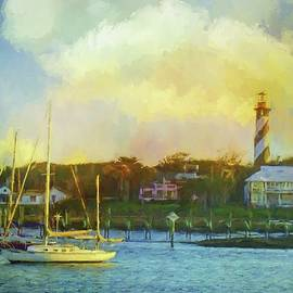 St Augustine Lighthouse Waterscape by Alice Gipson