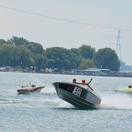 St Clair Off Shore Power Boats by Randy J Heath