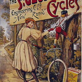 R Muirhead Art - St Georges Cycles vintage cycle poster