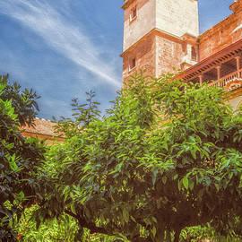St Jerome Cloister Granada by Joan Carroll