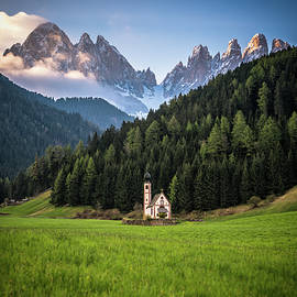 St. Johann Church In Val Di Funes by James Udall