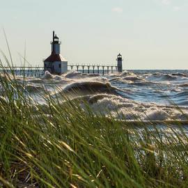 St Joseph Behind Sea Oats by Jennifer White