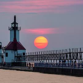Adam Romanowicz - St. Joseph Lighthouse at Sunset