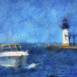 Thomas Woolworth - St Joseph Michigan Break Water Pier Light PA 04