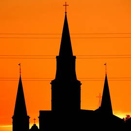 Michael Hoard - St. Louis Cathedral High Voltage Sunset In New Orleans