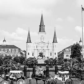 St. Louis Cathedral New Orleans - BW by Scott Pellegrin